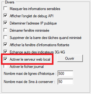 Integrated web server activation