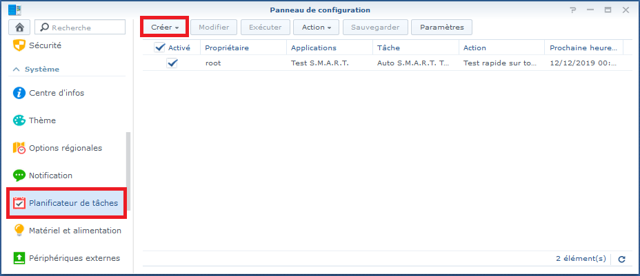 Synology task scheduler